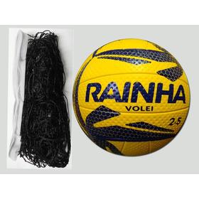 Kit - Bola De Vôlei Rainha 2.5 + Rede Voleibol 9,5 Mts Seda