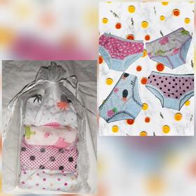Kit  Com 4 Calcinhas Infantis. Estampas Diversificadas.