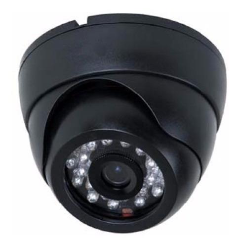 kit 01 câmera dome infravermelho 1000 linhas + acessórios