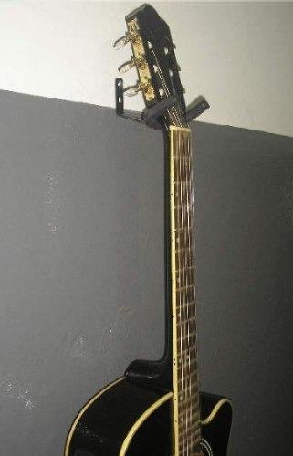 kit 01 suporte de parede + 01 de chão violão ou guitarra