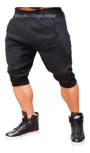 kit 02 bermuda de moleton skinny sport luxo