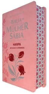 kit 02 bíblias de estudo da mulher sábia harpa e corinhos