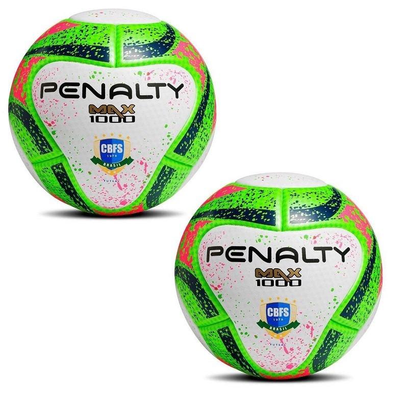 61a65072d0 Kit 02 Bolas De Fut Penalty Max 1000 Termotec Cbfs Nova Verd - R ...