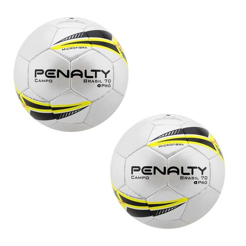 Kit 02 Bolas De Futebol De Campo Penalty Brasil 70 Pro - R  329 989f37d293c99