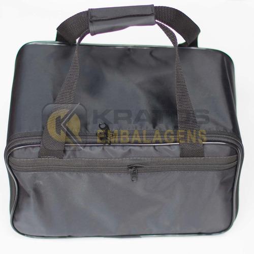 kit 02 bolsas completas com 5 bandejas para jóias - média