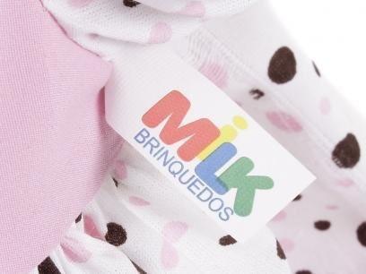 kit 02 boneca angelina loira menina + mamadeira mágica milk