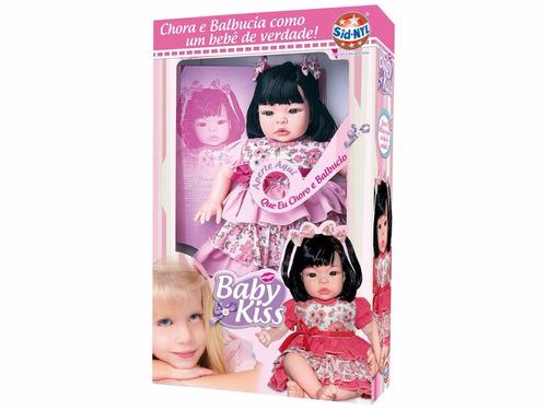 kit 02 boneca bebe baby kiss estilo reborn - frete grátis