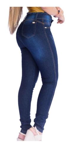 kit 02 calcas jeans feminina cintura alta cos alto promoção