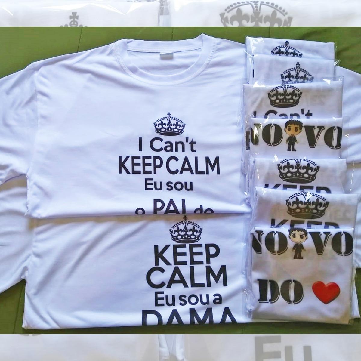 kit 02 camisetas personalizadas new game chá bar keep calm. Carregando zoom. 5befc1a8965