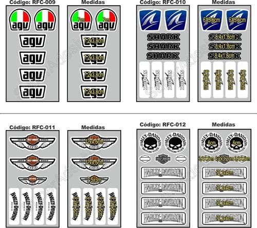 kit 02 cartelas - adesivo refletivo para capacete