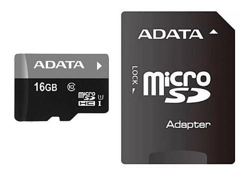 kit 02 cartão memória micro sd a-data 16gb + 1 adpt. clas 10