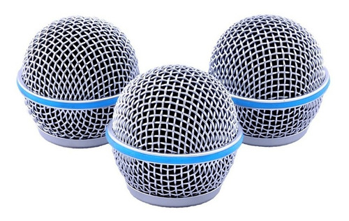 kit 02 globo grelha grille microfone shure pgx slx beta 58 a