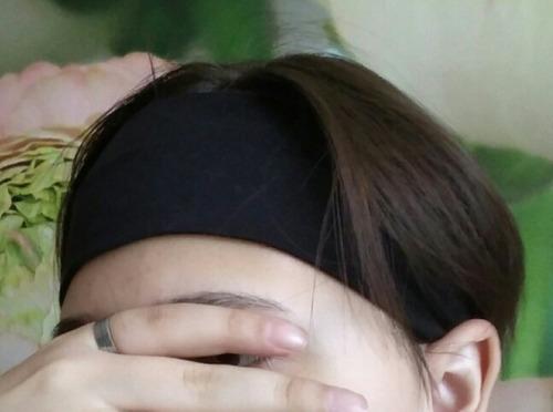 kit 02 - head band preto acessório para ioga - dança esporte