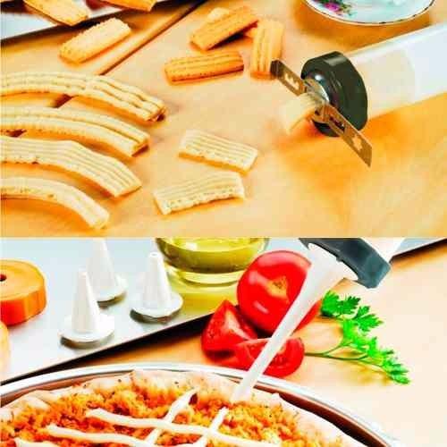 kit 02 maquinas para fazer churros biscoitos massas e doce