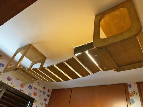 kit 02 nichos de teto e ponte de corda