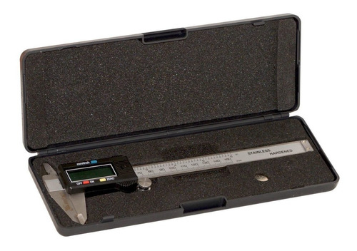 kit 02 paquimetros digital em aço inox 150mm 6 polegadas