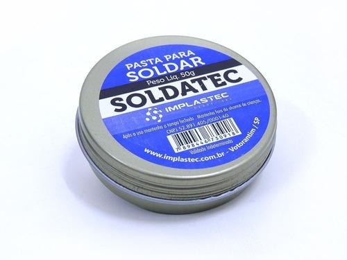 kit 02 pasta para soldar - implastec soldatec 50g