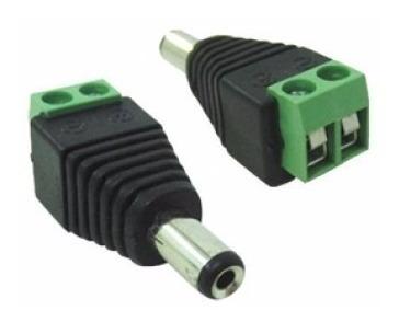 kit 02 plugs conector p4 macho borne alimentação câmeras