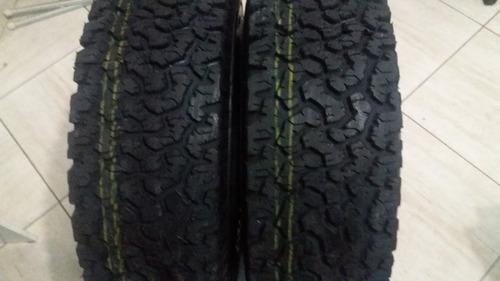 kit 02 pneu 265/75r16 recauchutado bf goodrich letra branca