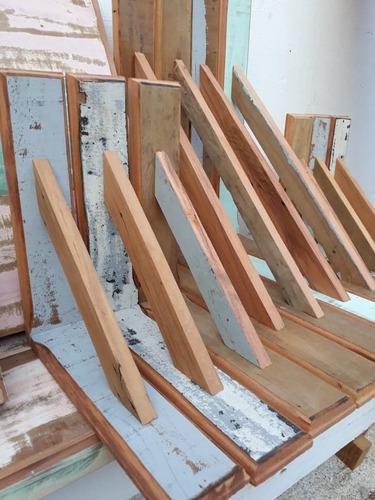 kit 02 prateleiras em madeira de demolição + frete grátis