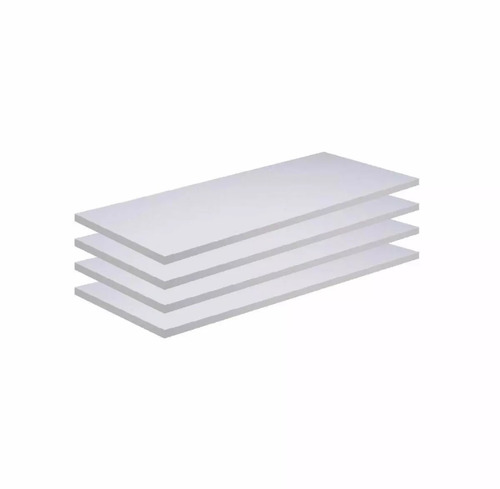 kit 02 prateleiras mdf 115x30 branco 15mm 1,15 metro x 30cm.