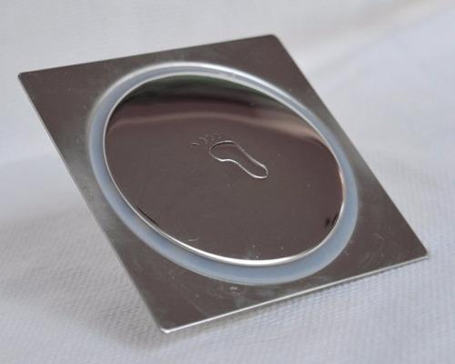 kit 02 ralo click 10x10 inteligente para piso em inox
