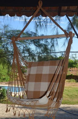 kit 02 redes cadeira balanço de teto frete gratis + brinde