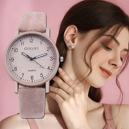 kit 02 relogio feminino rosa rosê presente para mulher lindo