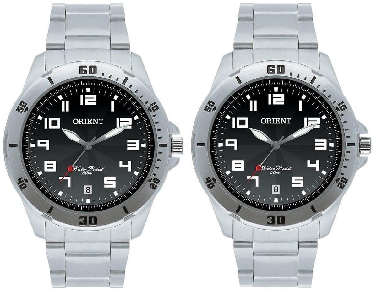 5980218bafc kit 02 relógios orient mbss1155a visores azul preto e branco. Carregando  zoom.