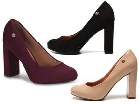 7728cd97ba Sapato Vizzano Salto Grosso Feminino - Sapatos no Mercado Livre Brasil