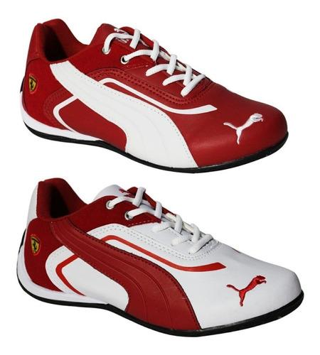 kit 02 tênis ferrari masculino caminhada leve 2 pague 1