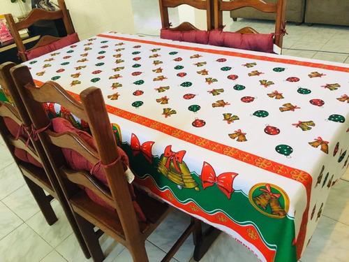 kit 02 toalhas de mesa natalinas  6 cadeiras