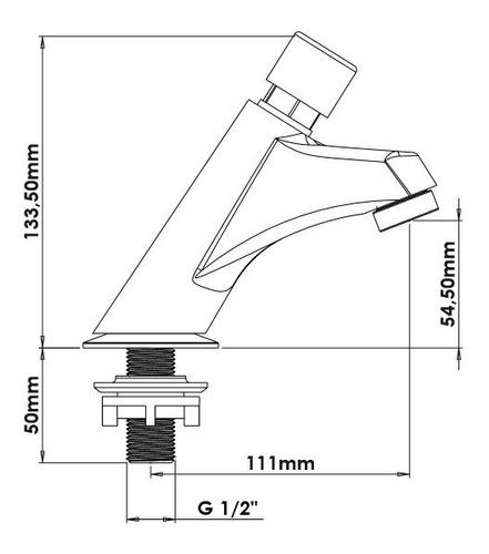 kit 02 torneira metal cromado automática para lavatório 1197