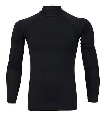 kit 02 unid camisa térmica masculina manga longa gola alta