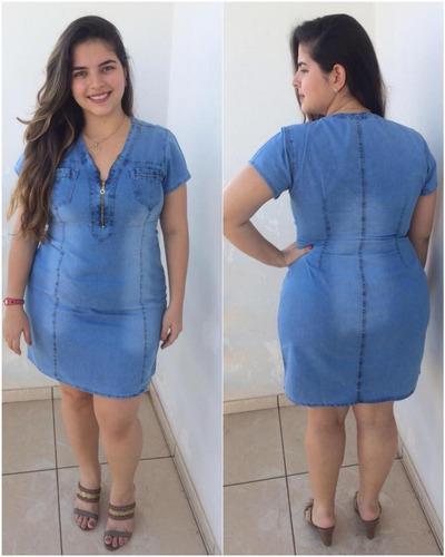 kit 02 vestidos plus size roupas femininas moda evangélica