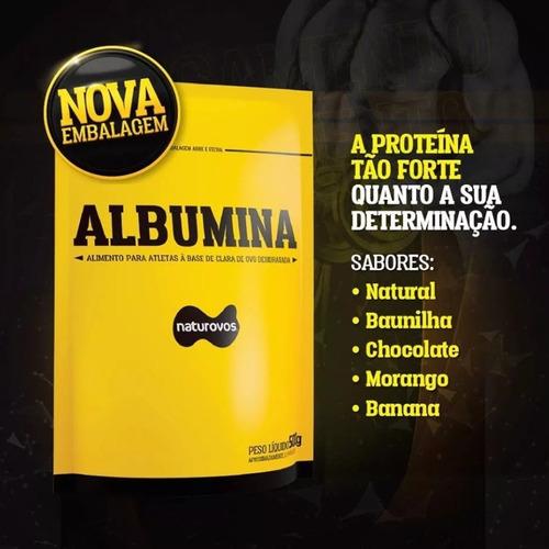 kit 03 albumina 83% naturovos - sabor misto