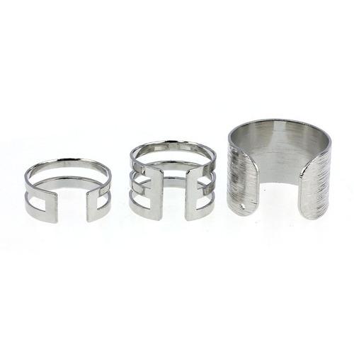 kit 03 anéis dourado ou prateado - envio 24h  frete barato !