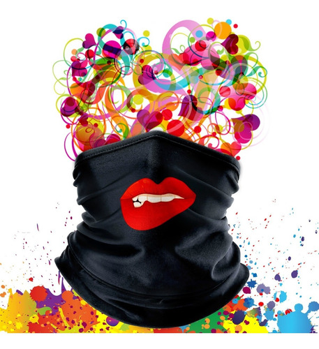 kit 03 bandana mascara lenço proteção stamp for all