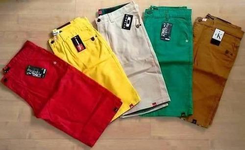 kit 03 bermudas masculina lisa coloridas varias marcas!!!