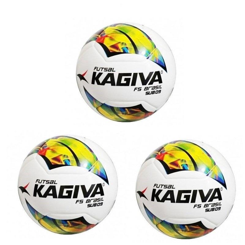 ee39a082a94f7 kit 03 bolas de futsal kagiva f5 brasil infantil sub 9. Carregando zoom.