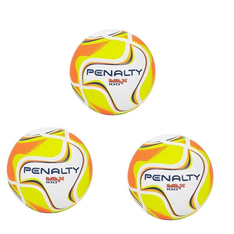 097225a2480eb kit 03 bolas de futsal penalty max 100 sub 11 termotec. Carregando zoom.