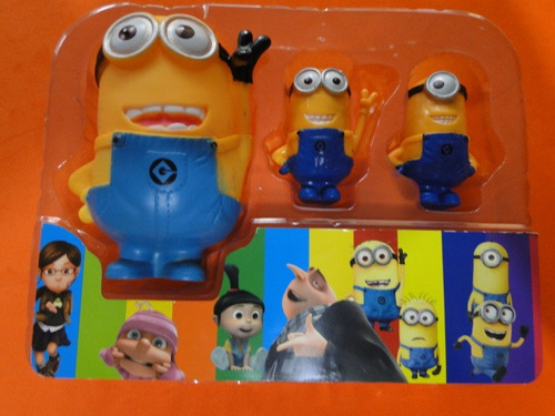 kit 03 bonecos minions malvado favorito 2 despicable me 2
