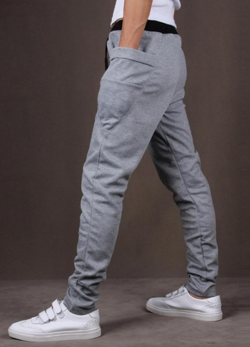 kit 03 calças moleton masculina skinny slim swag sport luxo