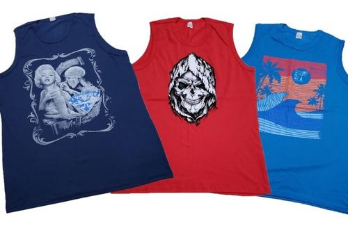 kit 03 camisa regata plus grande g1,g2,g3  academia