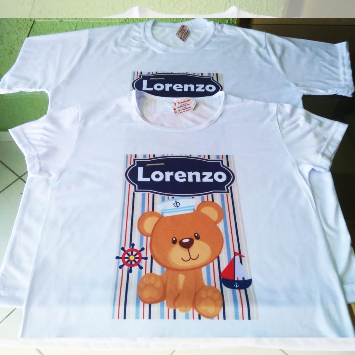 kit 03 camisetas adulto infantil ursinho marinheiro. Carregando zoom. 6c1c532e880