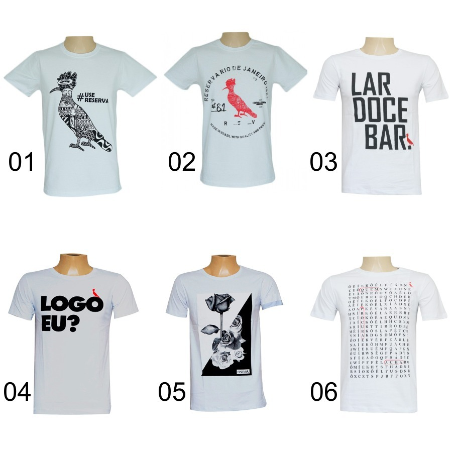 d82e034e0d Kit 03 Camisetas Camisas Masculinas Baratas Marca Reserva - R  140 ...
