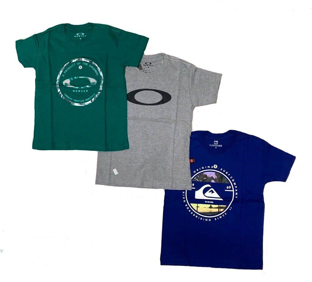 kit 03 camisetas varias marcas infantil e juvenil menino. Carregando zoom. 03fee0e6f85