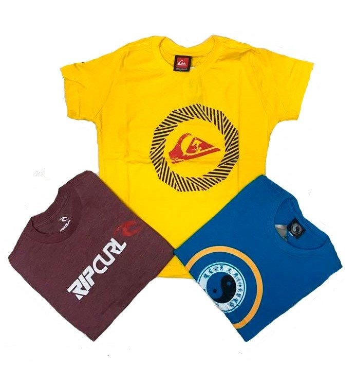 Kit 03 Camisetas Varias Marcas Infantil E Juvenil Menino. - R  64 bb55c203724