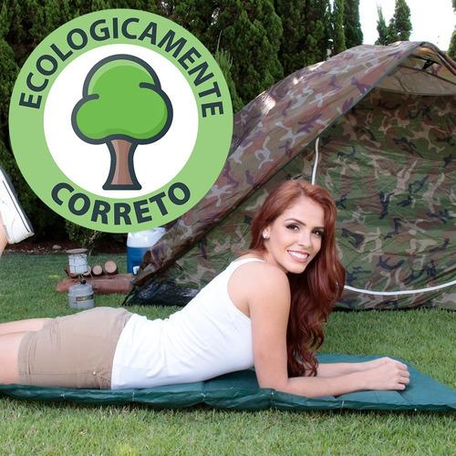 kit 03 colchonetes para acampamento camping solteiro