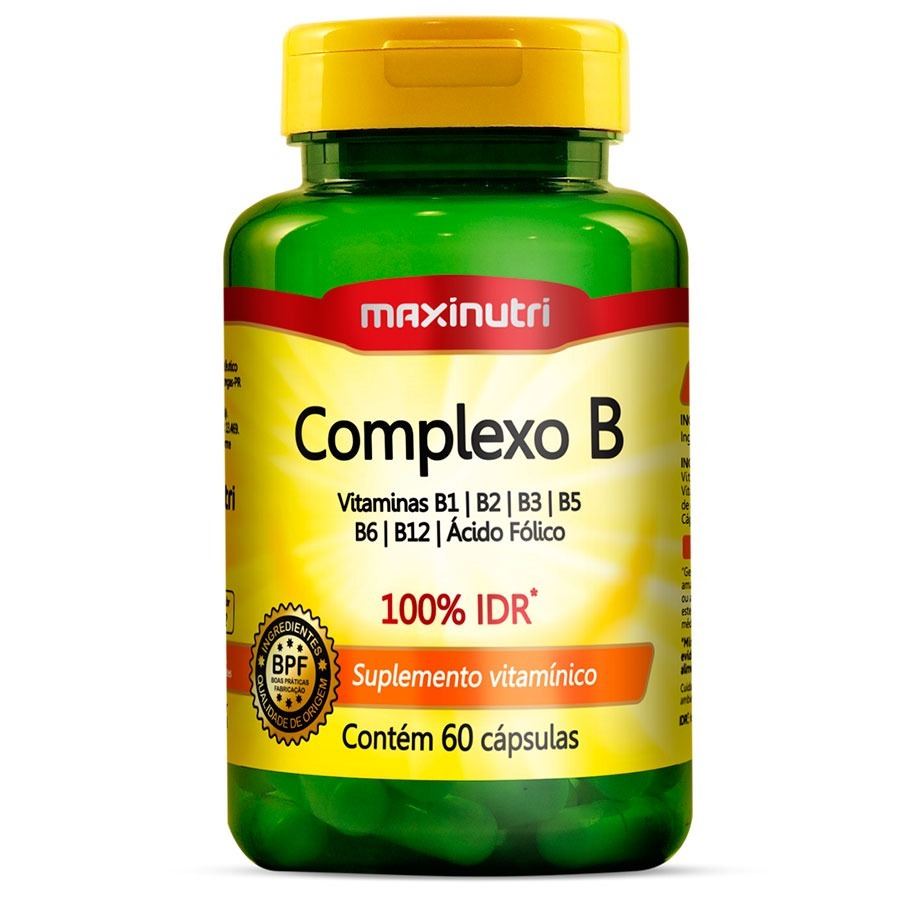 fe2a3d8a1 kit 03 complexo b polivitamínico maxinutri - 60 cápsulas. Carregando zoom.